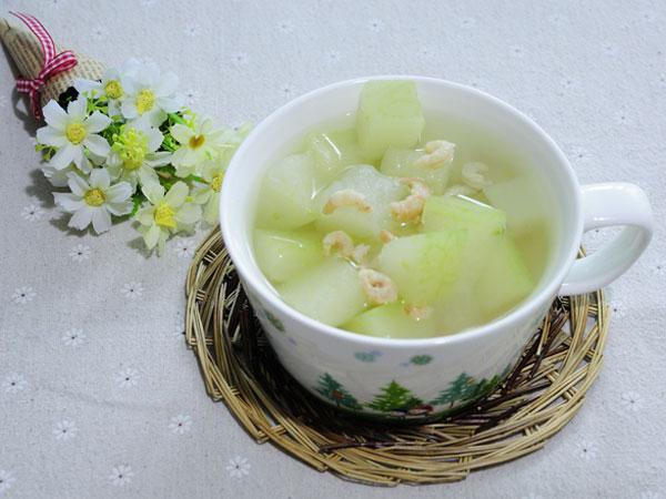 Winter Melon Soup with Dried Shrimps