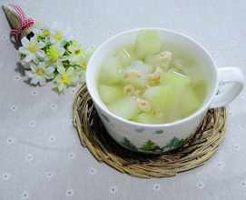 Winter Melon Soup with Dried Shrimps