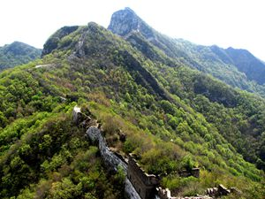 the scenery of the Great Wall at Jiankou section