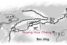 Map of Huanghuacheng Great Wall