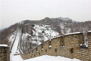 the winter scenery of the Great Wall