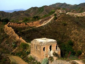 the scenery of the Great Wall at Gubeikou section