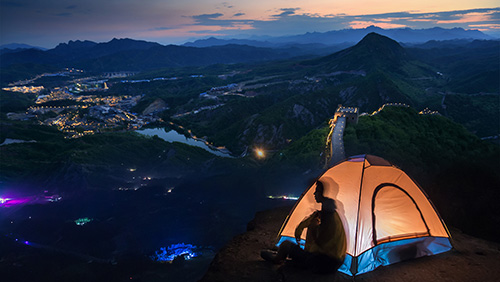 Huanghuacheng Great Wall camping