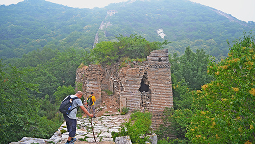 Jiankou wild Great Wall hiking