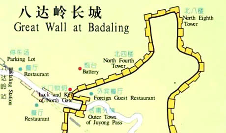 Badaling Great Wall, Great Wall Map