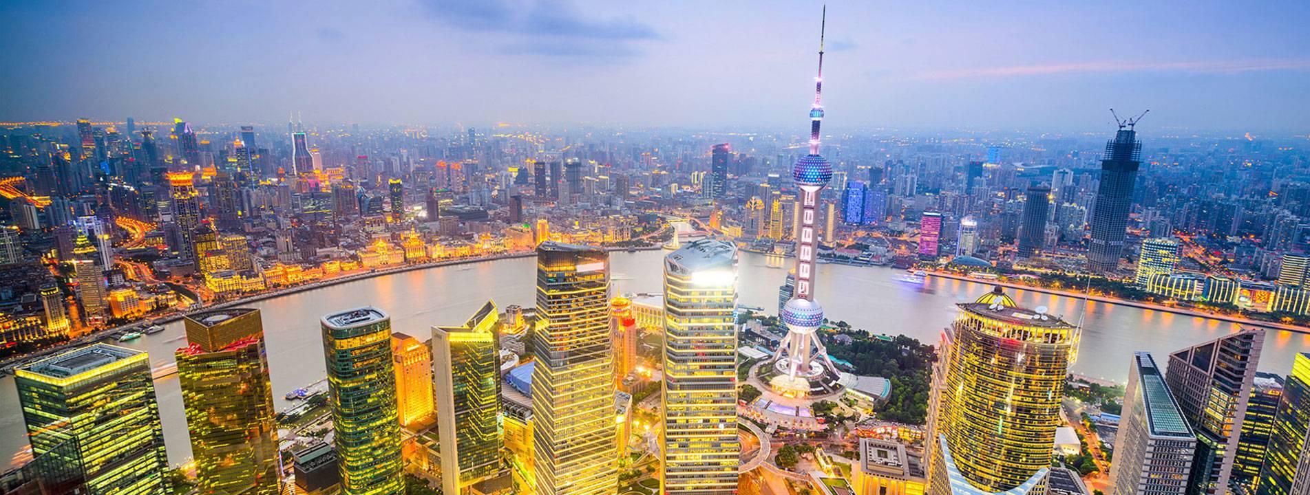 The skyscrapers in Shanghai