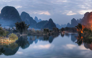 Li river scenery of Yangshuo