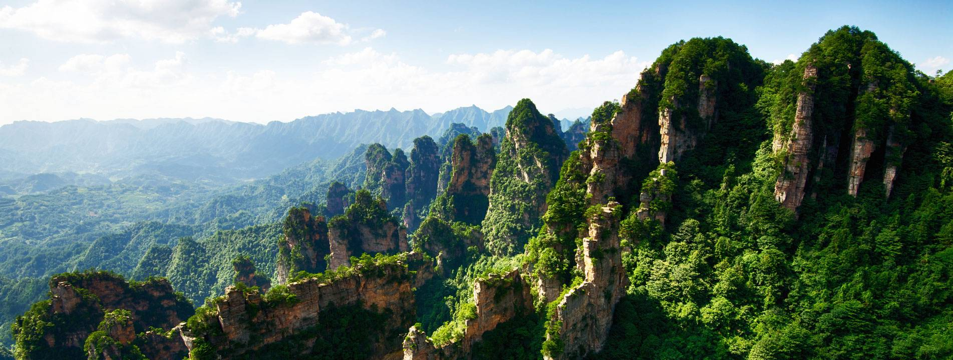 The beautiful peaks in Zhangjiajie Natioanl Forest Park