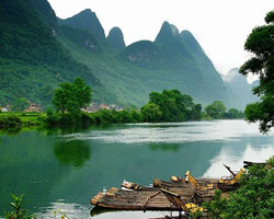 The Yulong River in Yangshuo