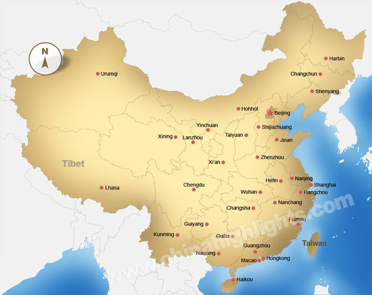China Map, Maps of China\'s Top Regions, Chinese Cities and ...