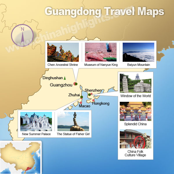Guangdong Attractions Map