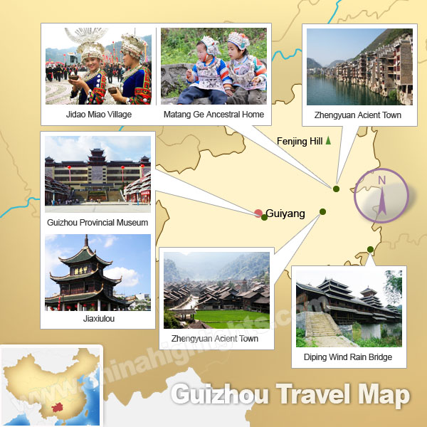 Guizhou Attractions Map