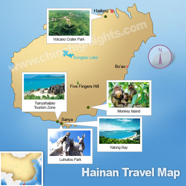 Hainan Attractions Map