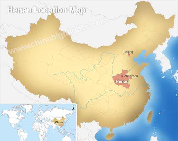 Henan Location Map