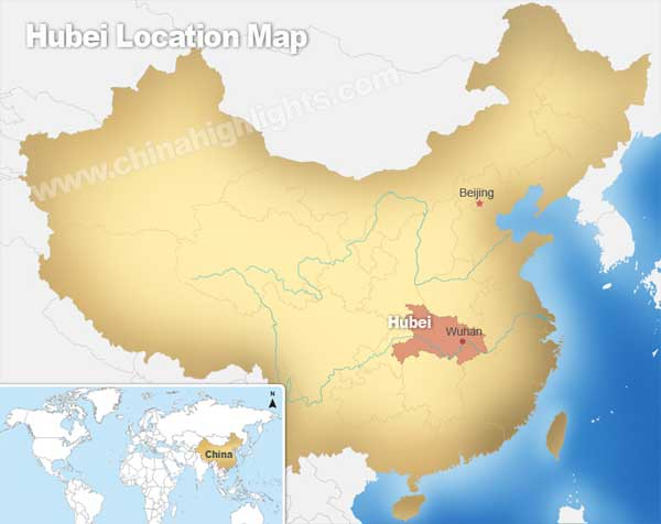 Hubei Location Map