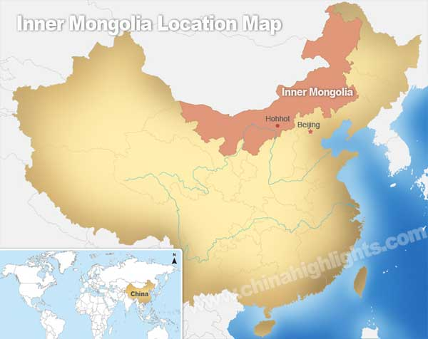 Inner Mongolia Location Map