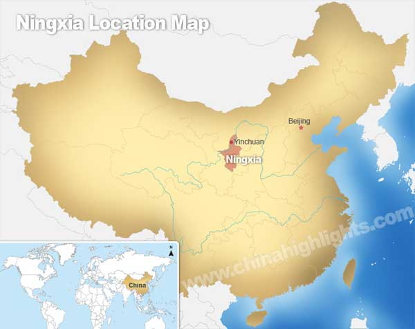 Ningxia Location Map