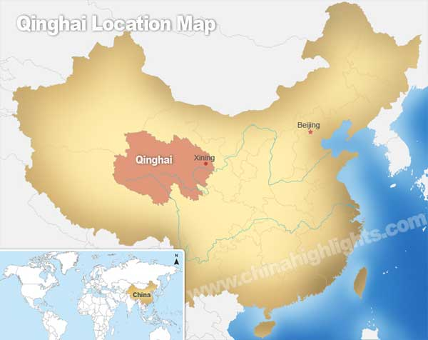 Qinghai Location Map