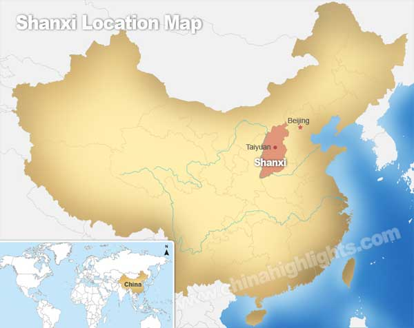 Shanxi Location Map