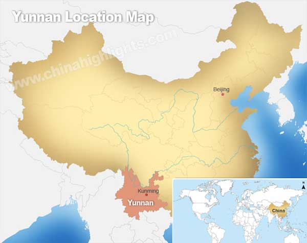 Yunnan Location Map