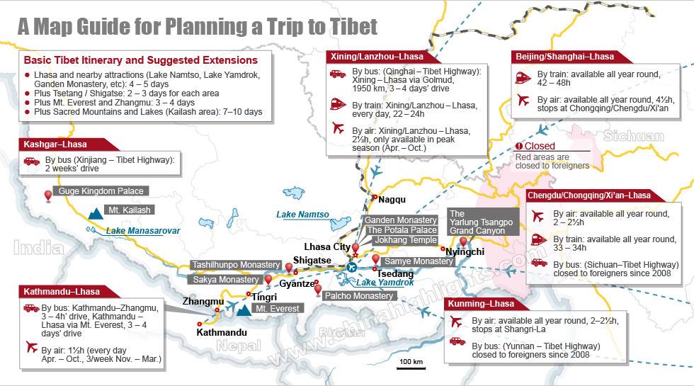 Tibet Planning Map