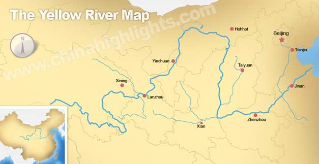 The Yellow River Map, Map of the Yellow River