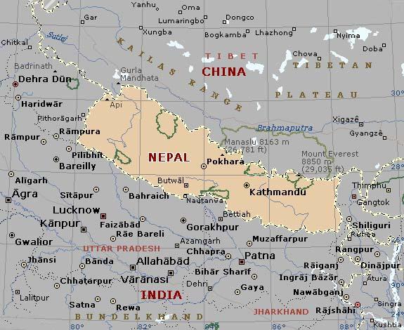 Nepal Tourism Map