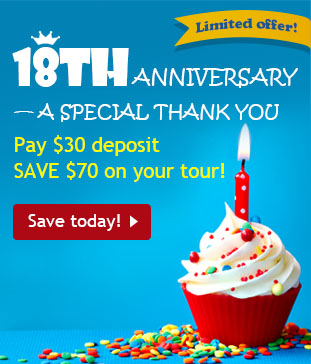 China Highlights 18th Anniversary Special Offer