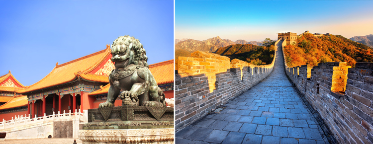 Forbidden City and the Great Wall of Mutianyu