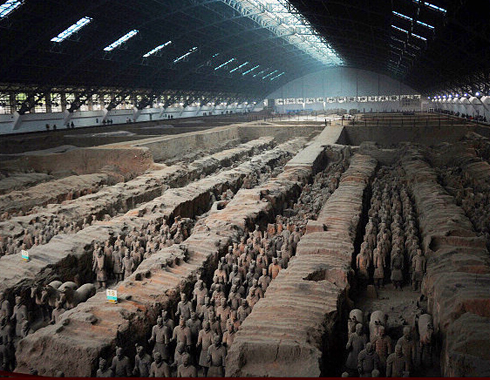 Appreciate the magnitude of the Terracotta Warriors & Horses in full battle array.