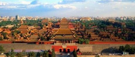 the panoramic view of the Forbidden City