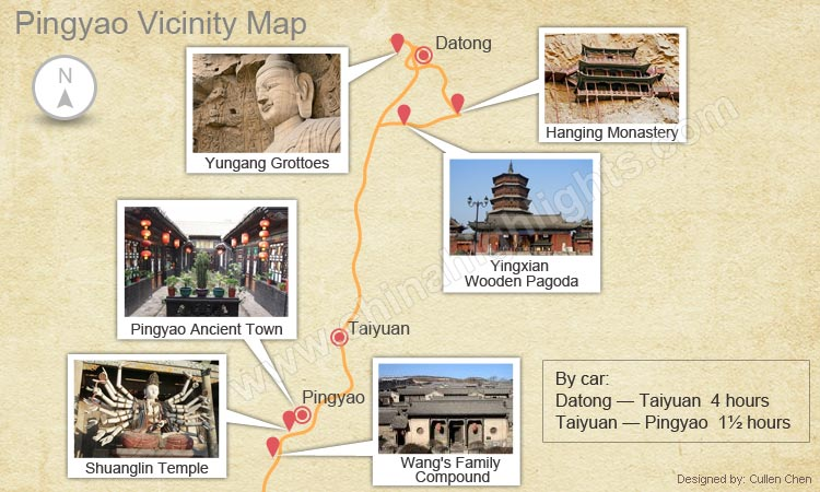 Pingyao Vicinity Map