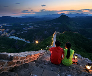 Night views of the Simatai Great Wall