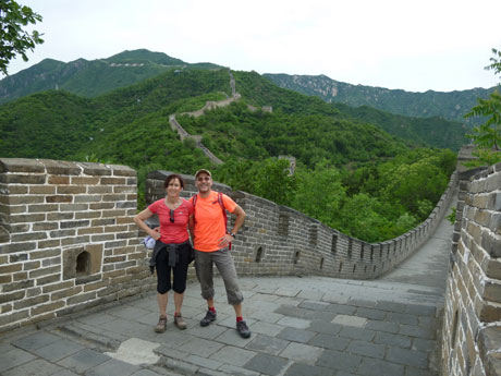 Hiking on Mutianyu Great Wall