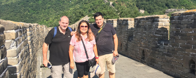 Walking on the Mutianyu Great Wall