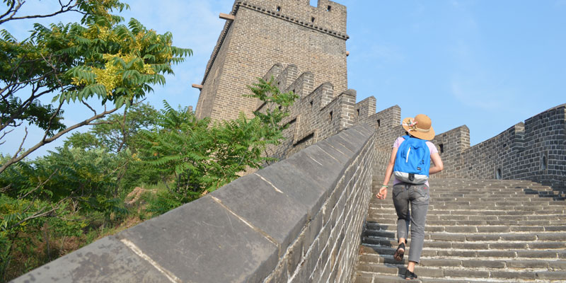 Hiking on the Great Wall at Huangyaguan