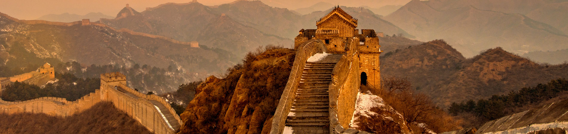 enjoy the sunset at the Great Wall