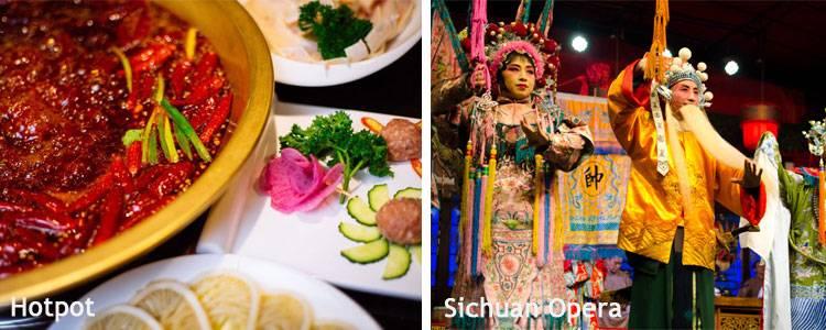 Sichuan hotpot and Sichuan Opera