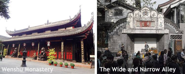 Wenshu Monastery and the Wide and Narrow Alleys
