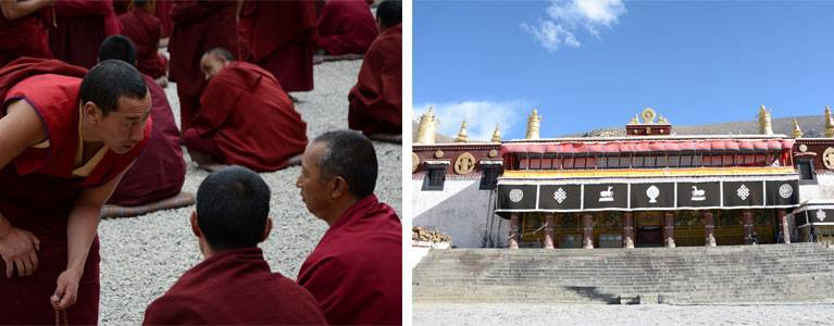 Debating at Drepung Monastery and Sera Monastery