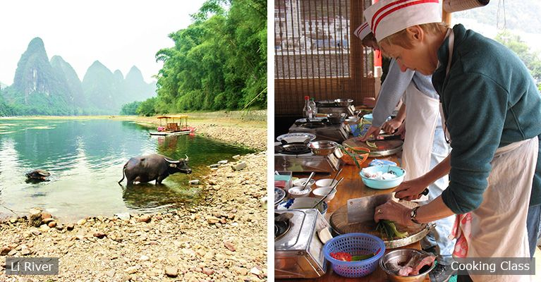 The Li River and cooking class