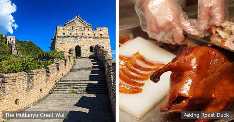 The Mutianyu Great Wall and roast duck