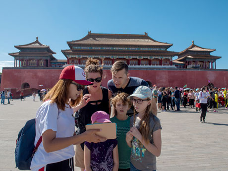 summer tour in the Forbidden City