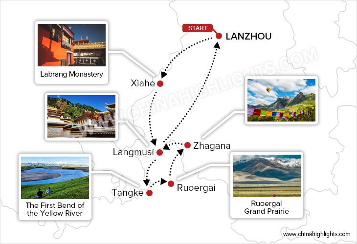 Gannan Tour Map