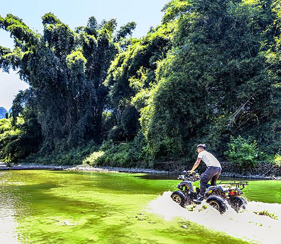Drive an ATV in a stream