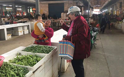 meet local people in a market