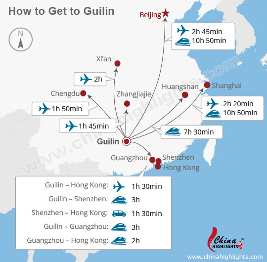 Guilin transport map