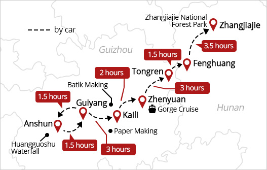 the intinerary of China golden triangle Tour