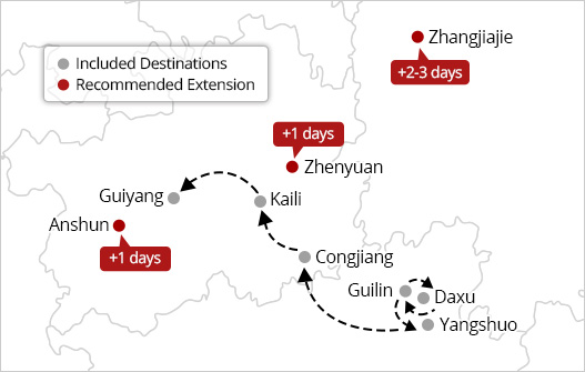 China golden triangle tour extensions