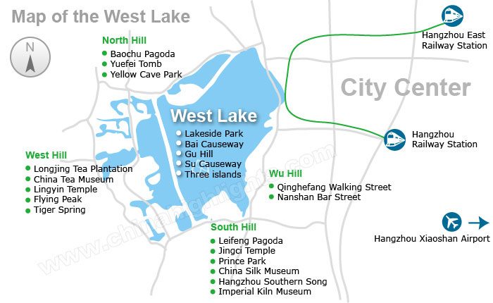 Map of West Lake